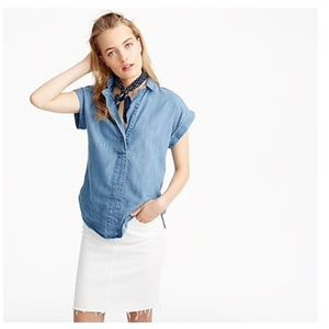 J. CREW popover shirt in chambray, 6